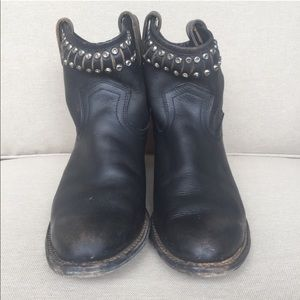 Diana Cut & Studded Leather Short Boot 9